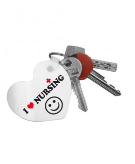 Schlüsselanhänger Herz Love Nursing mit Namensaufdruck