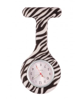 Silikon Schwesternuhr Zebra