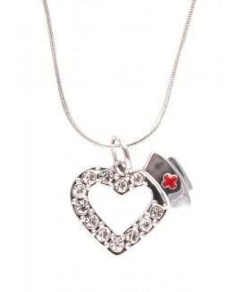 Halskette Herz und Häubchen