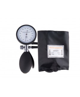 Blutdruckmessgerät Doppelschlauchsystem mit Tragetasche Schwarz