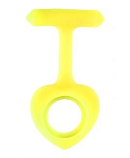 Silikongehäuse Herz Gelb